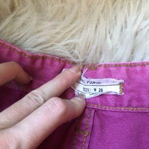 Free People Shorts - Free People Pink High Rise Denim Shorts